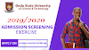 OSUSTECH UTME/DE Academic Screening For 2019/2020 Session Is Out