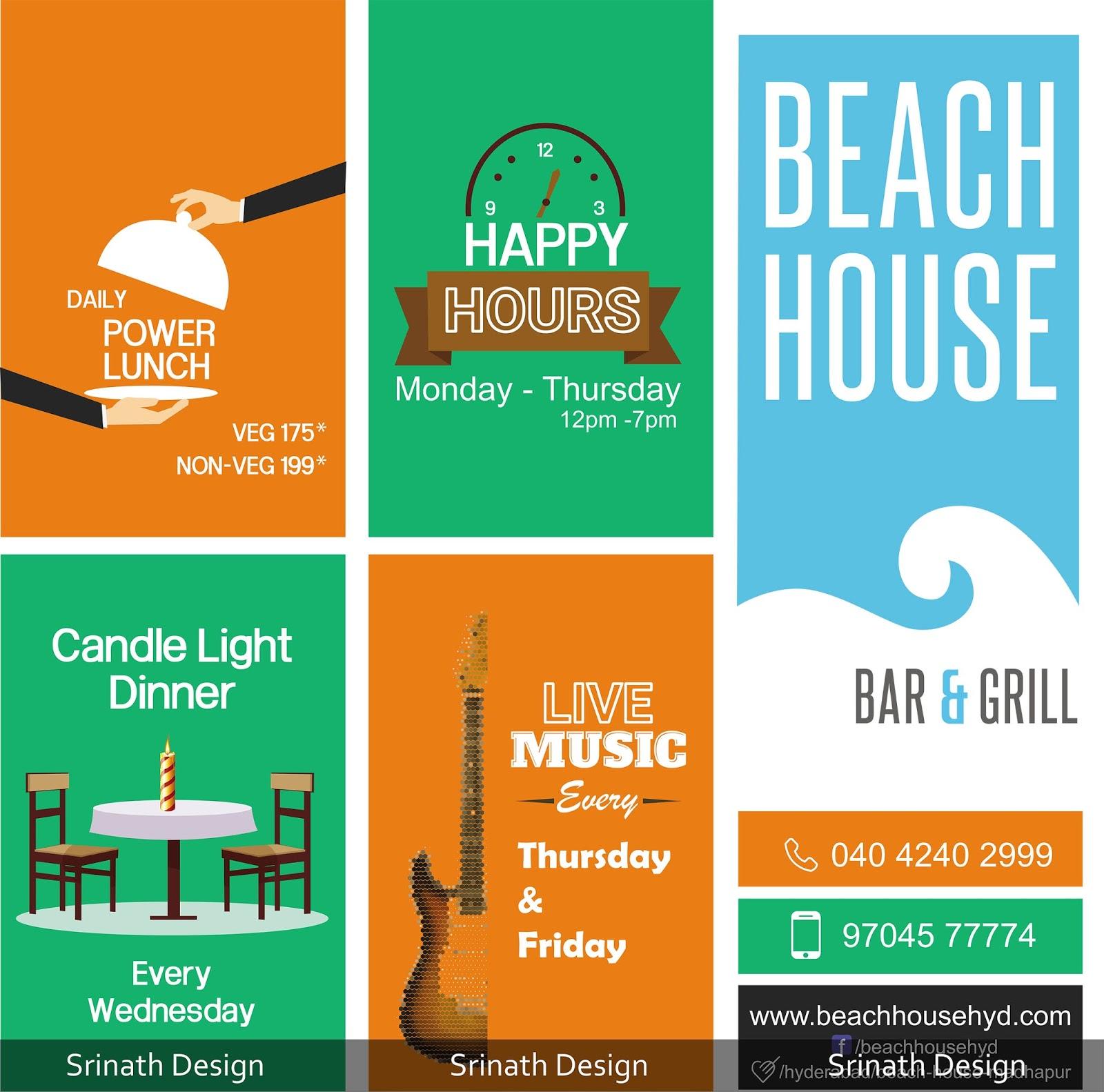 Beach restaurant bar and grill hoarding design