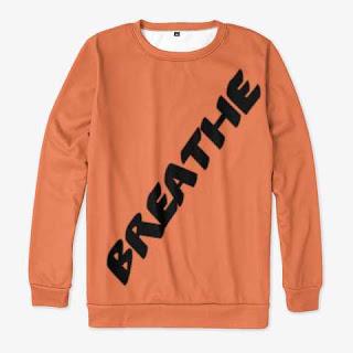 Breathe All-over Print Sweatshirt Orange