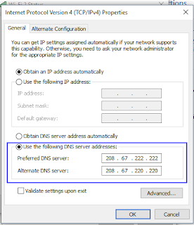 Silahkan anda centang Use the Following DNS server addresses
