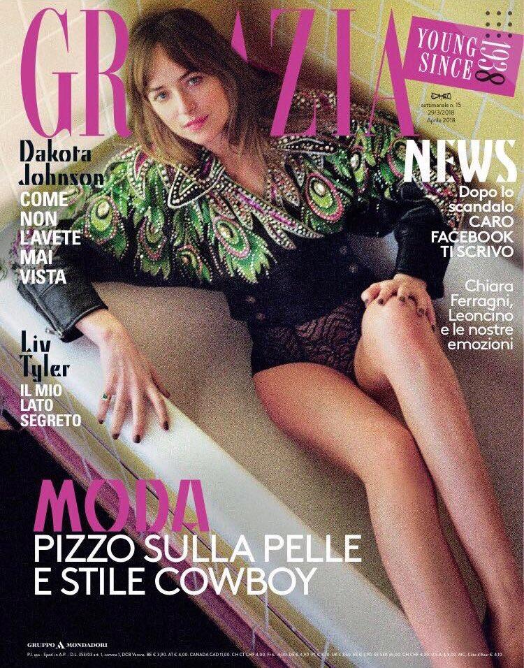 Dakota Johnson for Grazia Magazine April 2018
