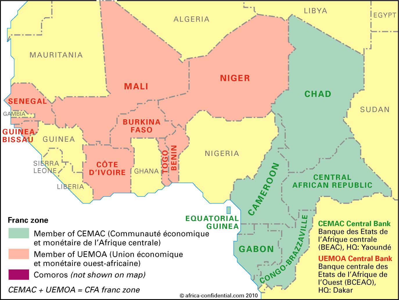Francophone Africa Map.Economically Enslaved The Francophone Emergent Africa