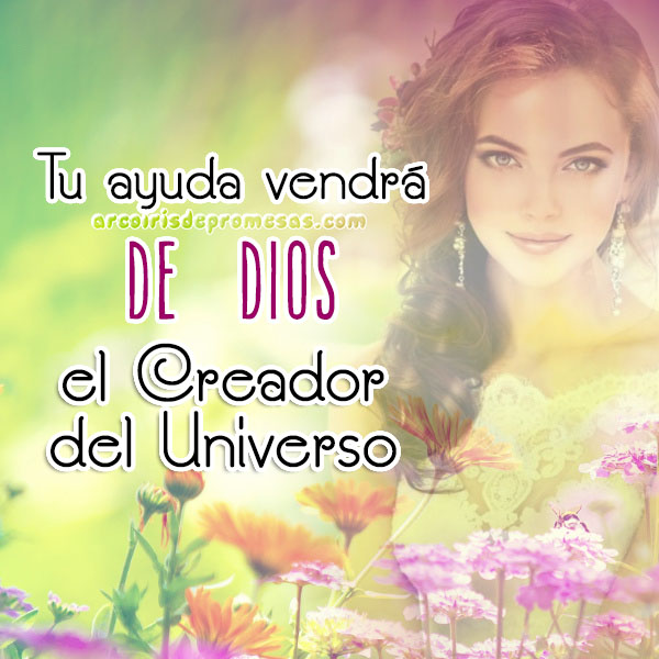dios es tu ayudador reflexiones cristianas con imágenes arcoiris de promesas