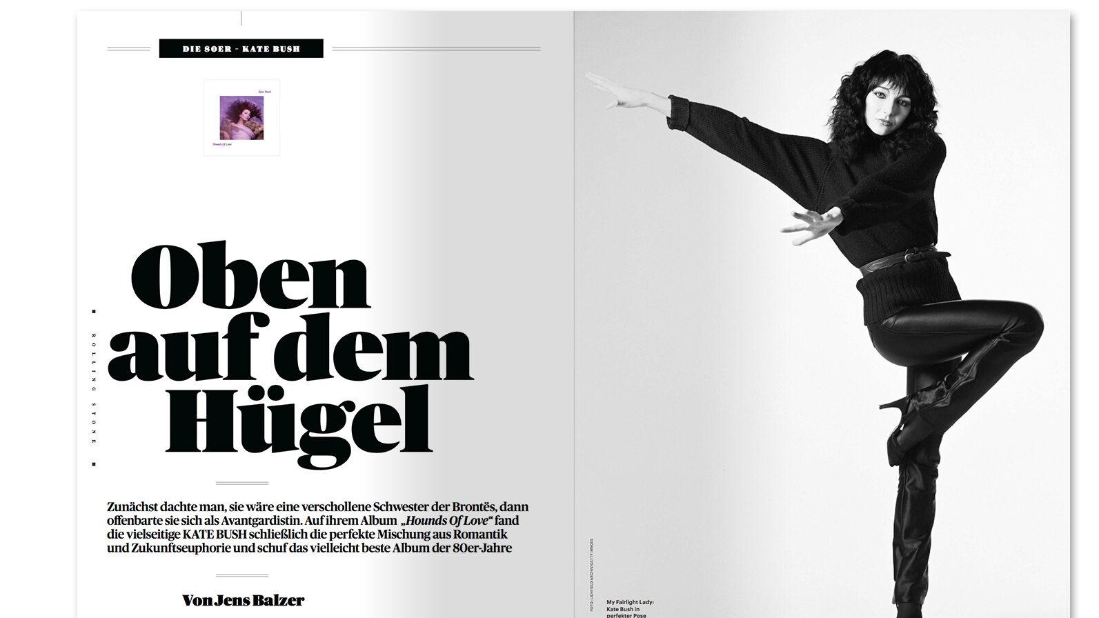 Kate Bush article in June 2021 German Rolling Stone
