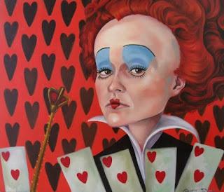 Rainha de copas - Pintura de Cícera Dias
