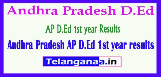 Andhra Pradesh AP D.Ed 1st year Results 2018