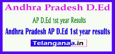 Andhra Pradesh AP D.Ed 1st year Results