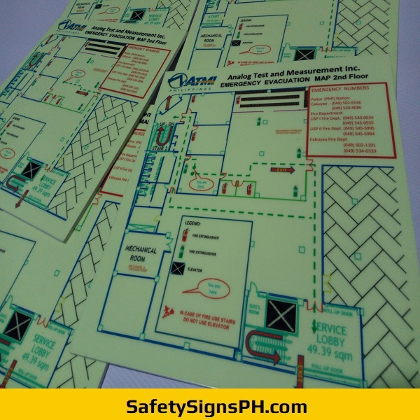 Glow in the Dark Emergency Evacuation Maps