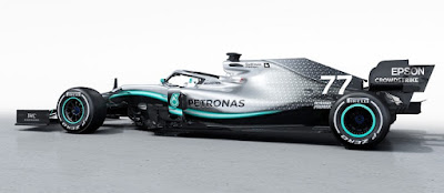 Mercedes launches New F1 Car W10 for 2019 season.
