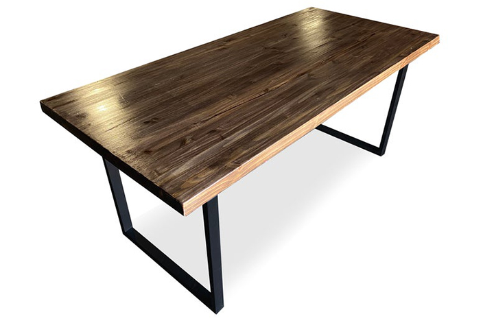 Modern table with wooden top