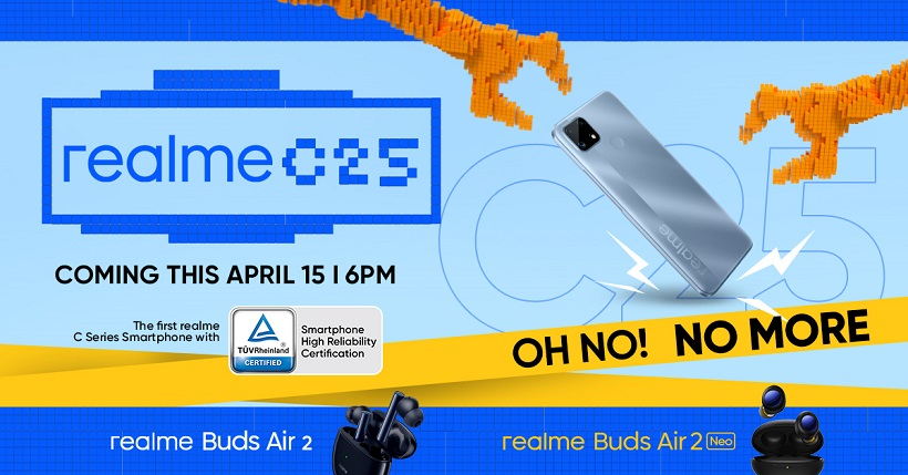 realme C25 to be launched on April 15 with Buds Air 2, Buds Air 2 Neo