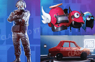 Hazard Outfit, Red Darcia Skin, and Helmet