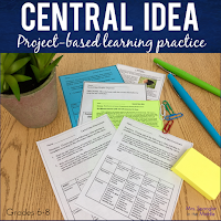 Your middle school students will use menus to practice determining central idea, take a quiz, and then either receive a menu for enrichment or remediation using this set!