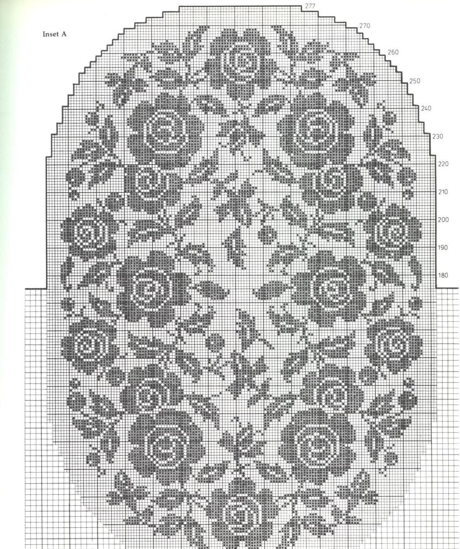 Hobby lavori femminili ricamo uncinetto maglia for Lavori a filet schemi gratis