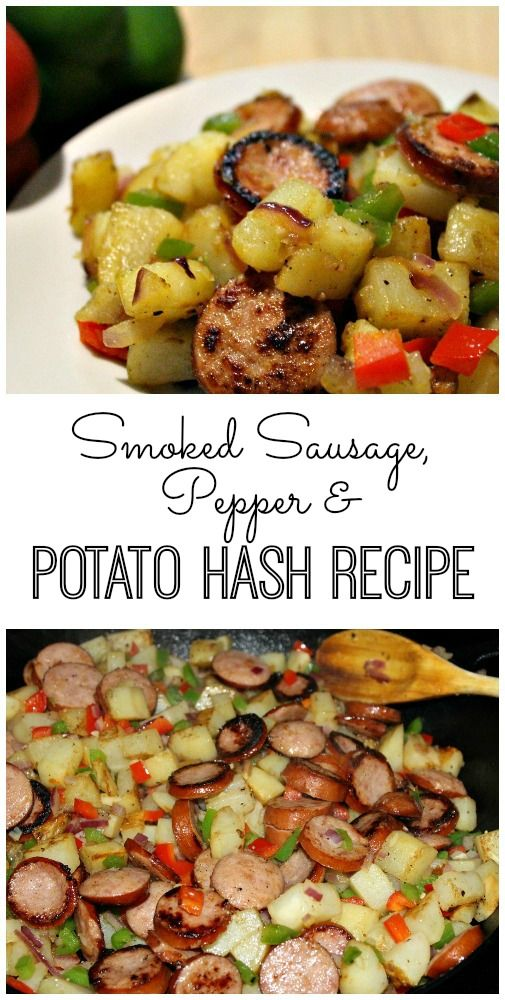 Smoked Sausage, Pepper and Potato Hash Recipe #recipes #dinnerideas #easydinnerideas #easysaturdaydinnerideas #food #foodporn #healthy #yummy #instafood #foodie #delicious #dinner #breakfast #dessert #lunch #vegan #cake #eatclean #homemade #diet #healthyfood #cleaneating #foodstagram