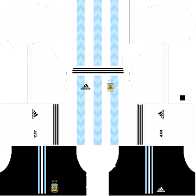 Argentina World Cup 2018 Dream League Soccer Kits 512x512 URL And FTS15