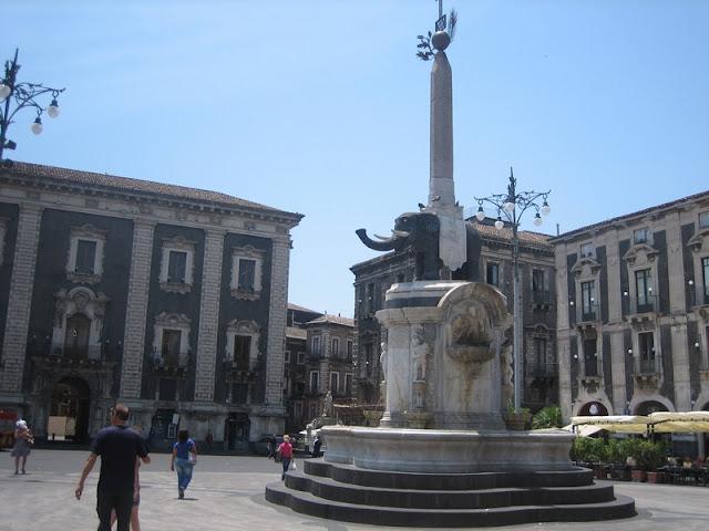 Fuente del Elefante en Catania