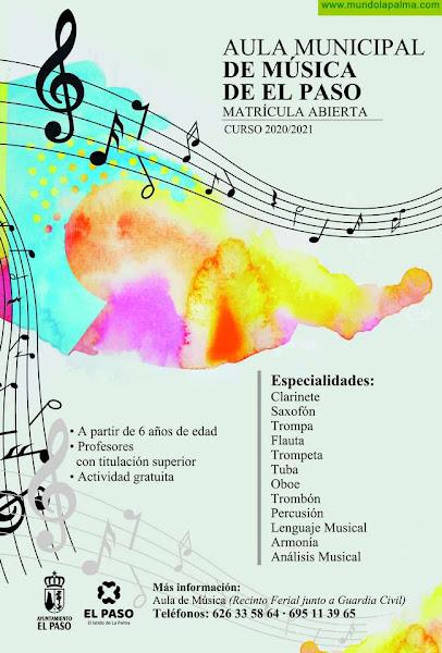 El Aula Municipal de Música de El Paso abre el plazo de matrícula