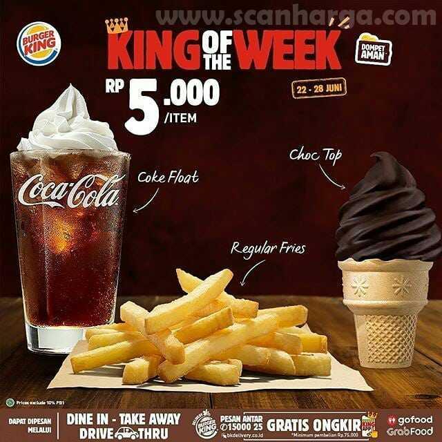 Burger King Promo King Of The Week Periode 22 - 28 Juni 2020 1