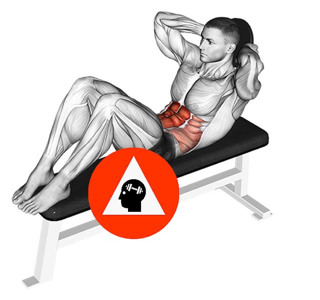 exercice musculation abdos crunchs lesté haltère fonte