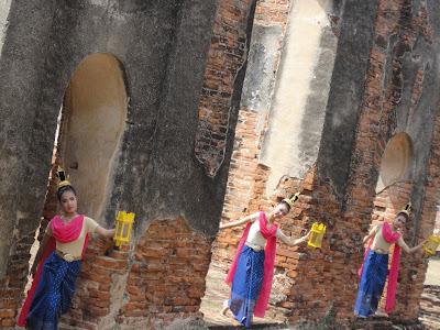 Ayutthaya, gare, bangkok, thailandaise lopburi, phitchanulok, singe, temple, Thaïlande, train