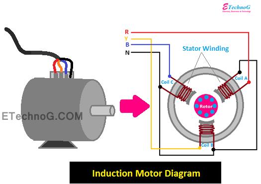 Principle induction motor Three Phase