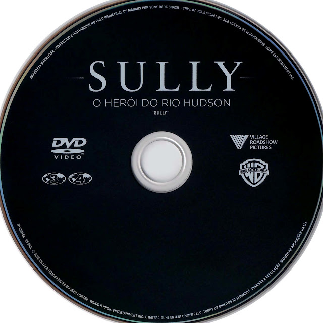 Label DVD Sully O Herói do Rio Hudson (Oficial)