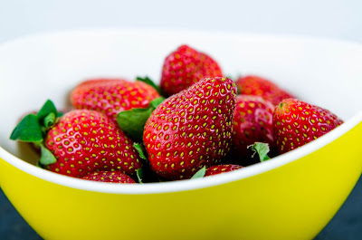 Free food stock photos and high quality images - Strawberries in Yellow Bowl.