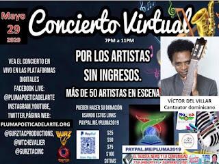 Este noche a partir de las siete gran concierto virtual con más de 50 artistas