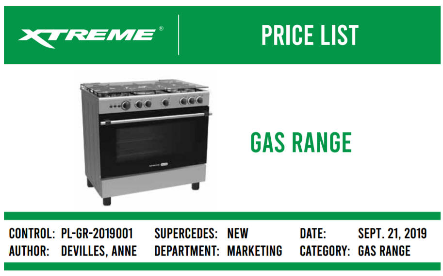Xtreme Gas Range