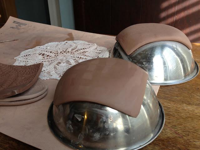 handbuilt ceramic dessert plates
