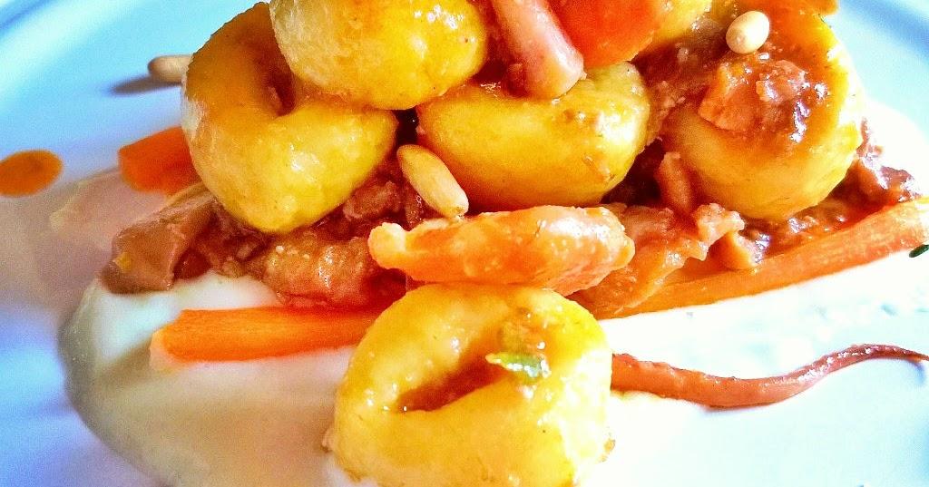 In cucina con mamma agnese gnocchi misto mare con pinoli - Pesce su letto di patate ...