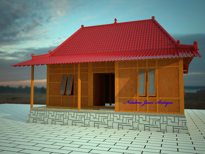 Rumah Minimalis Moodern Kamar 3 Ndalem Jawi Antique