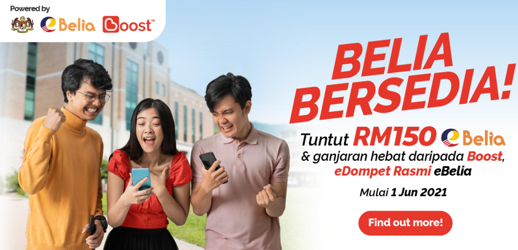 Cara Tebus eBelia RM150 Menggunakan Boost