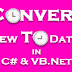 Convert GridView to DataTable in C# and VB.Net