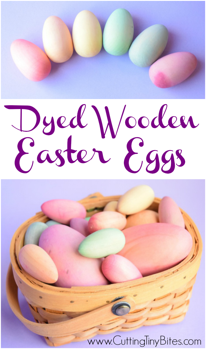 Dyed Wooden Easter Eggs Beautiful Toy For Children All Natural A Much Nicer