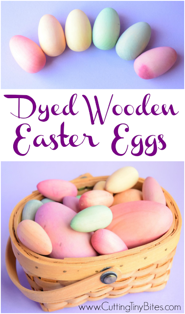 Dyed Wooden Easter Eggs. Beautiful toy for children, all natural. A much nicer alternative to cheap, plastic eggs, or real eggs that will go bad!