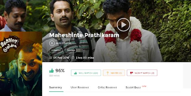 Maheshinte Prathikaaram 2016 Malayalam Full Movie 700Mb HD