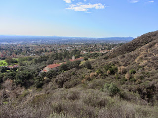 View southwest from Bailey Canyon Trail toward Sierra Madre and Los Angeles