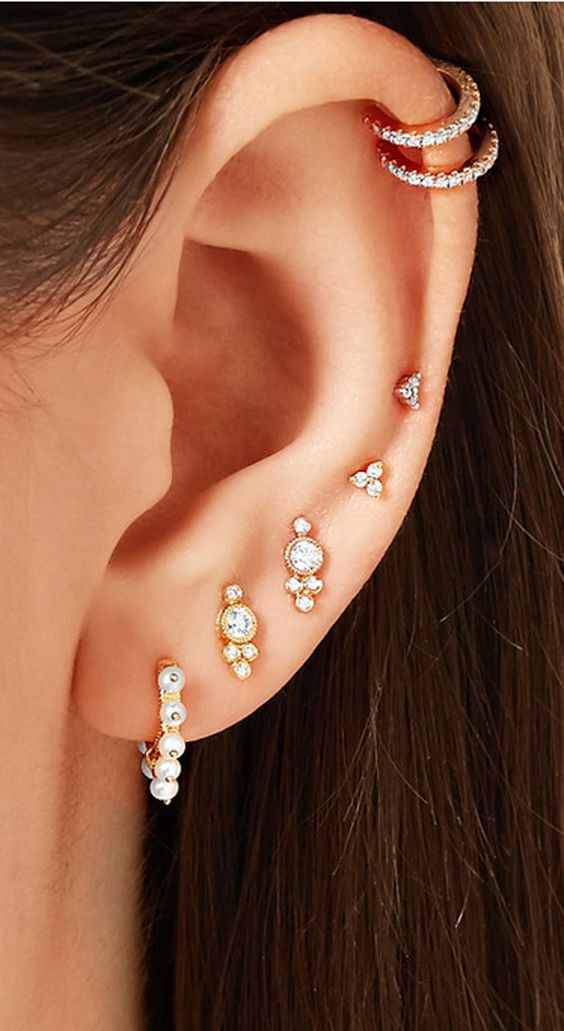 22 best ideas to get the beautiful ear piercings