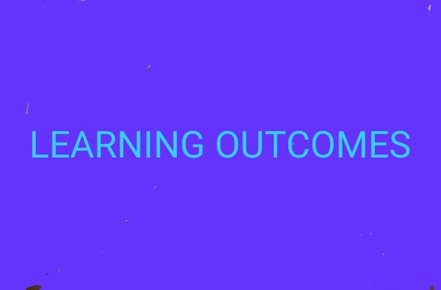 Learning outcomes 1 to 5 Std
