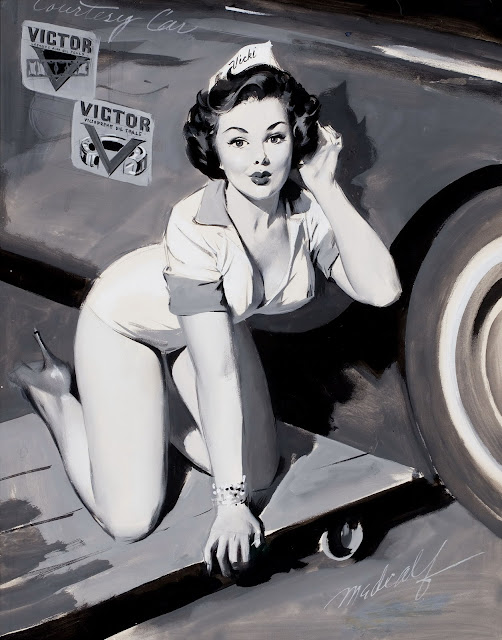 Girls and Cars by William Medcalf