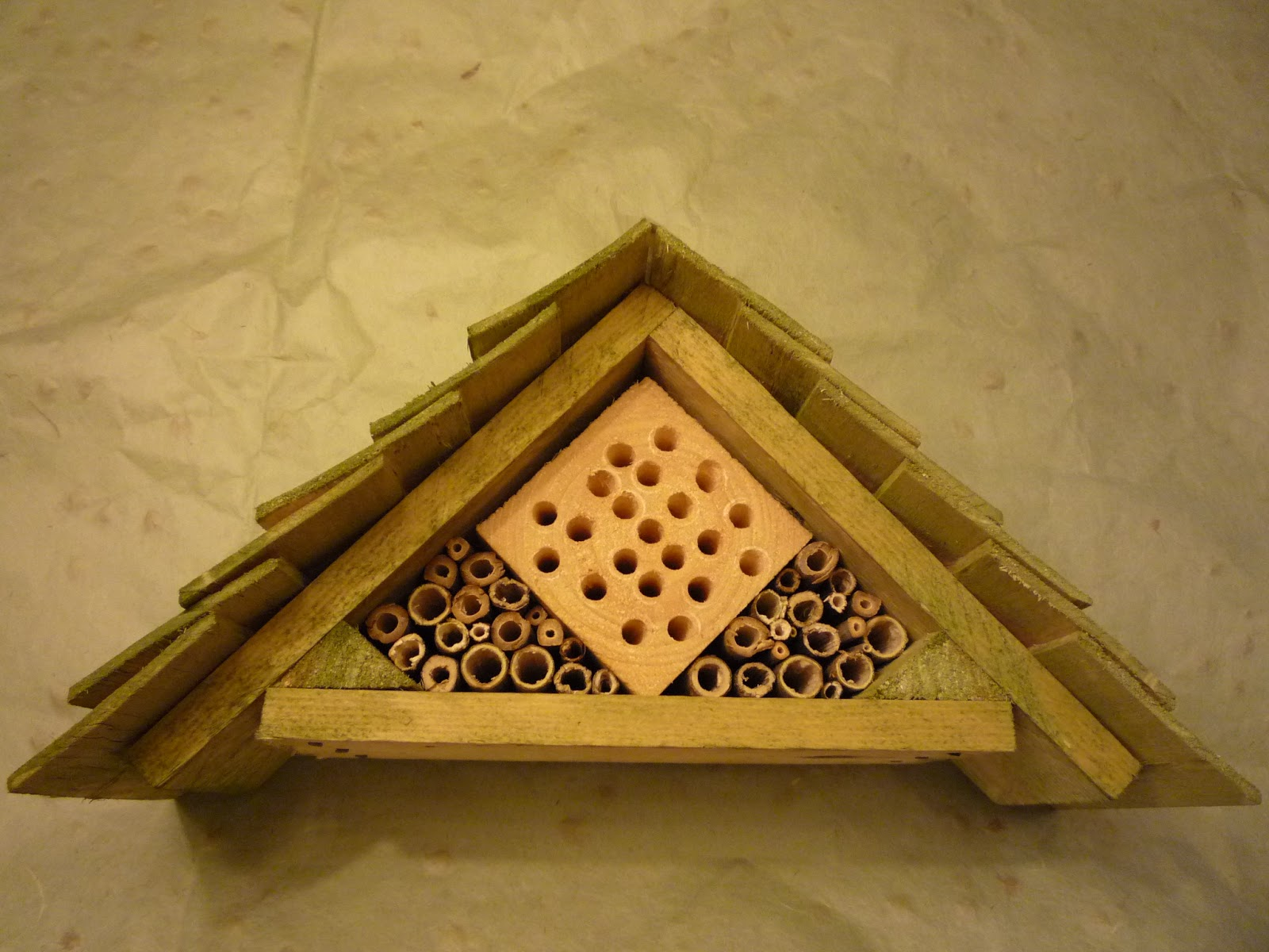 Using natural pigments on an insect hotel