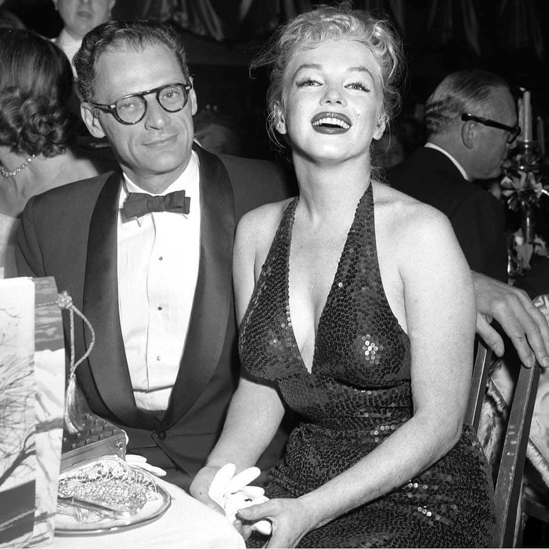 Marilyn Monroe e Arthur Miller 1957 em NY