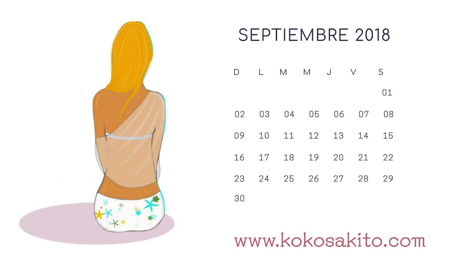 Calendario Dibujo Septiembre.Koko Sakito Dibujos Historietas Carteles Libretas