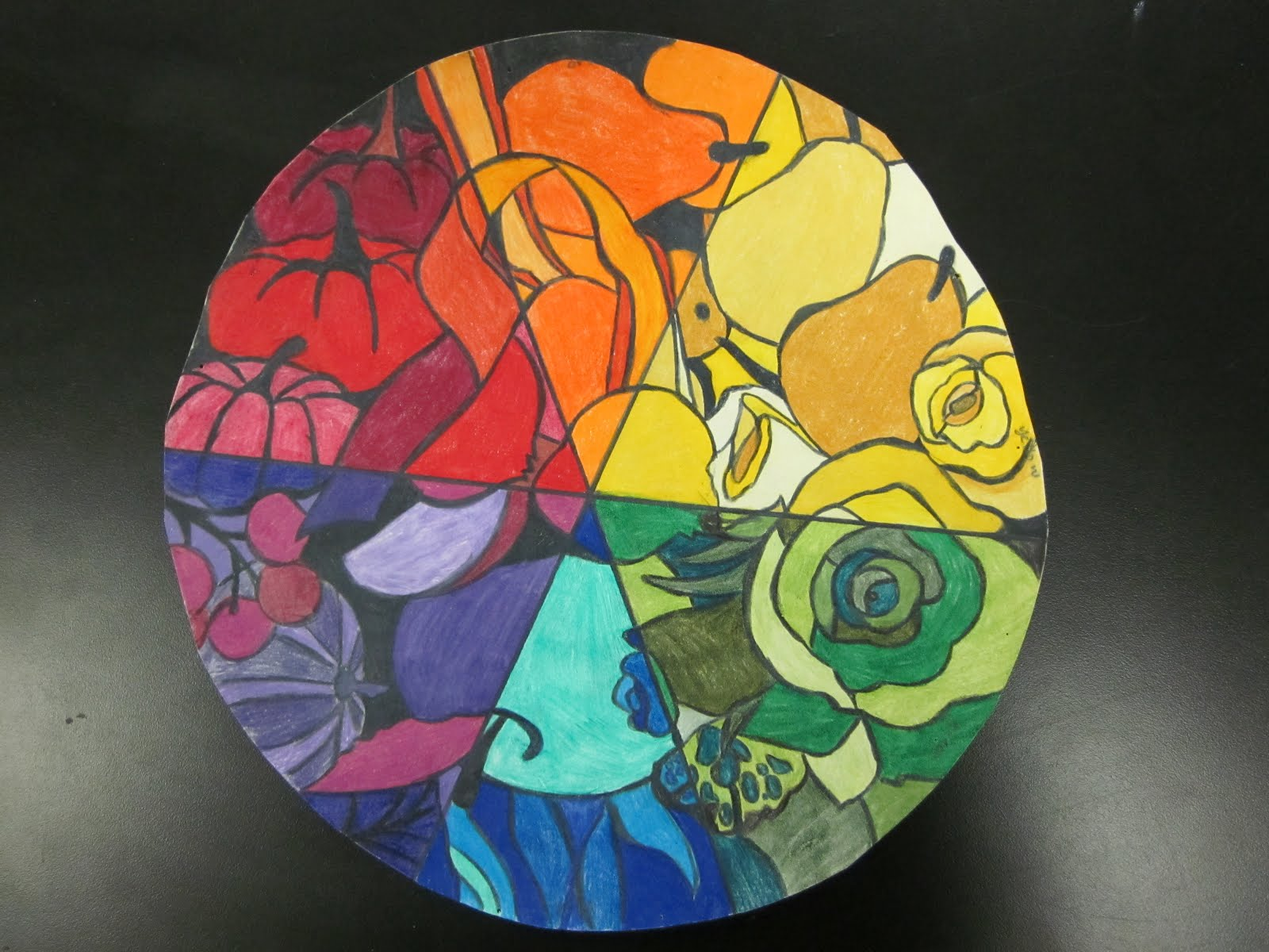 Mrs Highsmith Loves Art Color Wheel