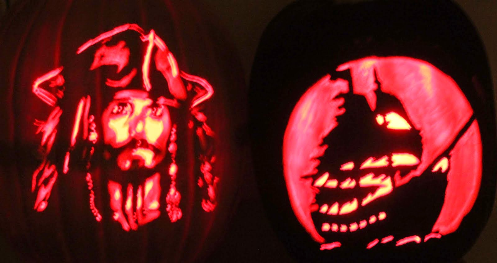Captain Jack Sparrow & The Black Pearl pumpkins