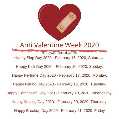 anti valentine week 2020