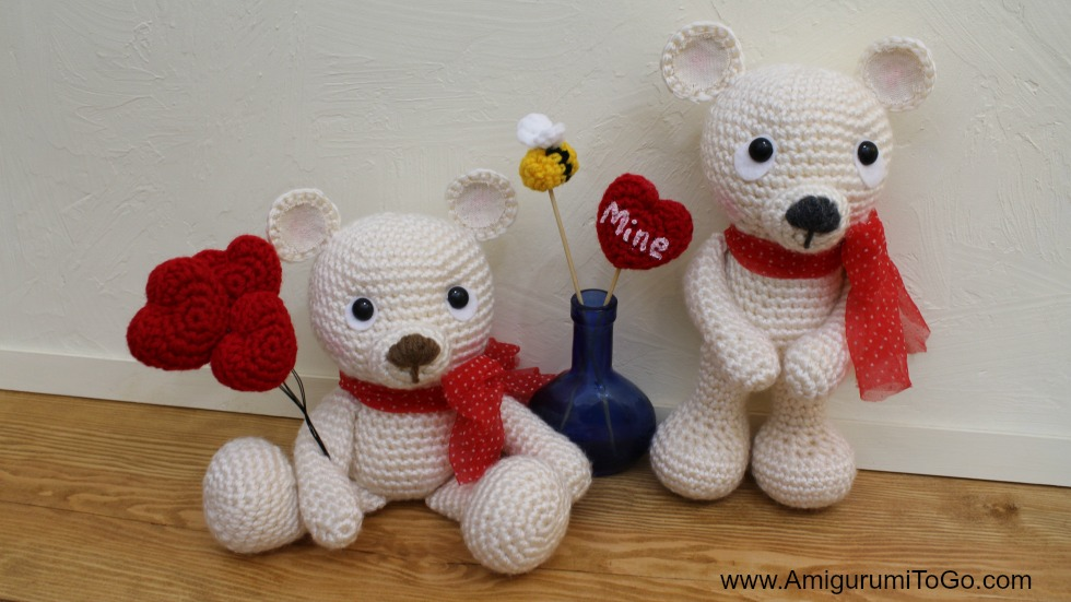 Amigurumi Valentine Teddy Bear Part Two : Bee Mine Teddy Bear ~ Amigurumi To Go