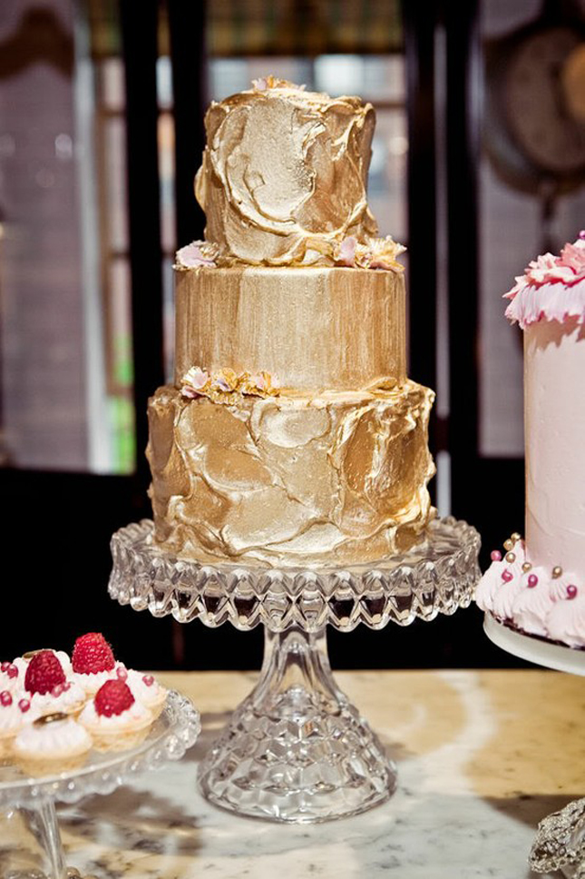 Metallic Wedding Cakes Part 2 Belle The Magazine